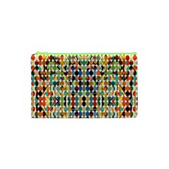 Retro Pattern Abstract Cosmetic Bag (xs)