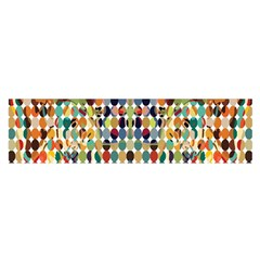 Retro Pattern Abstract Satin Scarf (oblong)