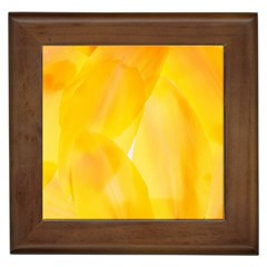 Yellow Pattern Painting Framed Tiles