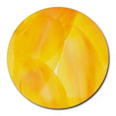 Yellow Pattern Painting Round Mousepads
