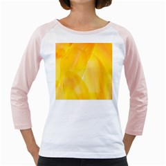 Yellow Pattern Painting Girly Raglans