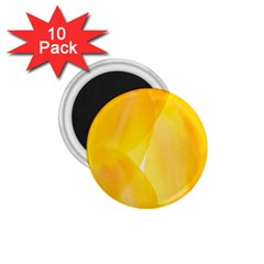 Yellow Pattern Painting 1 75  Magnets (10 Pack)