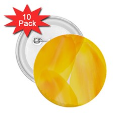 Yellow Pattern Painting 2 25  Buttons (10 Pack)