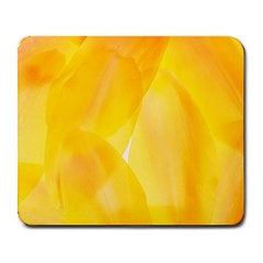 Yellow Pattern Painting Large Mousepads