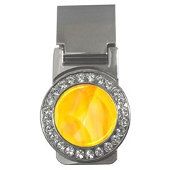 Yellow Pattern Painting Money Clips (cz)