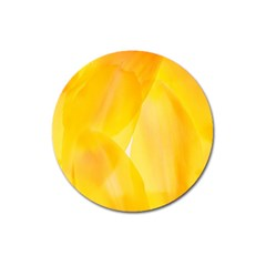 Yellow Pattern Painting Magnet 3  (round)
