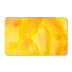 Yellow Pattern Painting Magnet (rectangular)