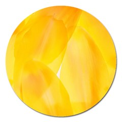 Yellow Pattern Painting Magnet 5  (round)