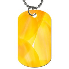 Yellow Pattern Painting Dog Tag (two Sides)