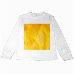 Yellow Pattern Painting Kids Long Sleeve T-Shirts