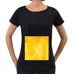 Yellow Pattern Painting Women s Loose Fit T Shirt (black)