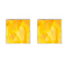 Yellow Pattern Painting Cufflinks (square)