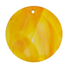 Yellow Pattern Painting Round Ornament (two Sides)