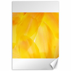 Yellow Pattern Painting Canvas 12  X 18
