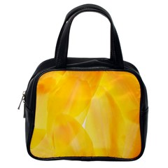 Yellow Pattern Painting Classic Handbags (one Side)