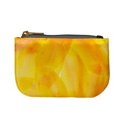 Yellow Pattern Painting Mini Coin Purses