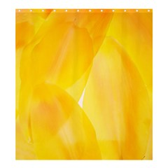Yellow Pattern Painting Shower Curtain 66  X 72  (large)