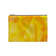 Yellow Pattern Painting Cosmetic Bag (medium)