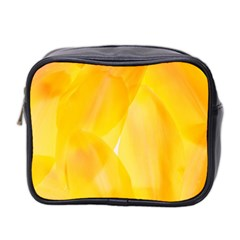 Yellow Pattern Painting Mini Toiletries Bag 2 Side