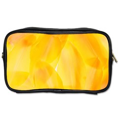 Yellow Pattern Painting Toiletries Bags 2 Side