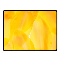 Yellow Pattern Painting Fleece Blanket (small)