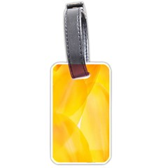 Yellow Pattern Painting Luggage Tags (one Side)