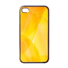 Yellow Pattern Painting Apple Iphone 4 Case (black)