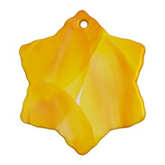 Yellow Pattern Painting Snowflake Ornament (two Sides)