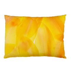 Yellow Pattern Painting Pillow Case (two Sides)