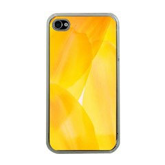 Yellow Pattern Painting Apple Iphone 4 Case (clear)