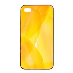 Yellow Pattern Painting Apple Iphone 4/4s Seamless Case (black)