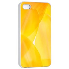 Yellow Pattern Painting Apple Iphone 4/4s Seamless Case (white)