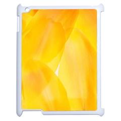 Yellow Pattern Painting Apple Ipad 2 Case (white)