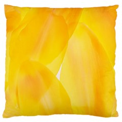 Yellow Pattern Painting Large Cushion Case (two Sides)