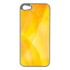 Yellow Pattern Painting Apple Iphone 5 Case (silver)