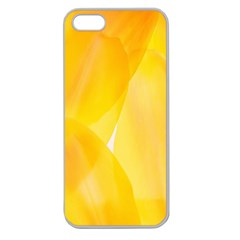 Yellow Pattern Painting Apple Seamless Iphone 5 Case (clear)