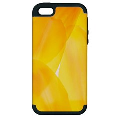 Yellow Pattern Painting Apple Iphone 5 Hardshell Case (pc+silicone)
