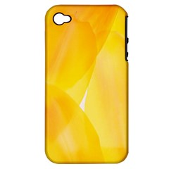 Yellow Pattern Painting Apple Iphone 4/4s Hardshell Case (pc+silicone)