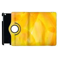 Yellow Pattern Painting Apple iPad 3/4 Flip 360 Case