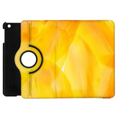 Yellow Pattern Painting Apple Ipad Mini Flip 360 Case