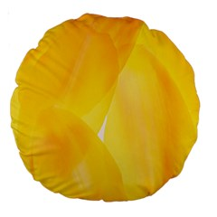 Yellow Pattern Painting Large 18  Premium Round Cushions