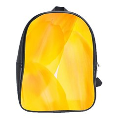 Yellow Pattern Painting School Bags (xl)