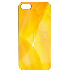 Yellow Pattern Painting Apple Iphone 5 Hardshell Case With Stand