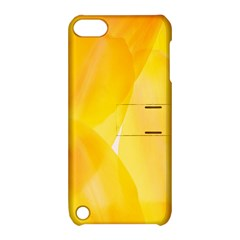 Yellow Pattern Painting Apple Ipod Touch 5 Hardshell Case With Stand