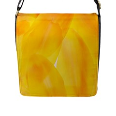 Yellow Pattern Painting Flap Messenger Bag (l)
