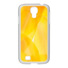 Yellow Pattern Painting Samsung Galaxy S4 I9500/ I9505 Case (white)