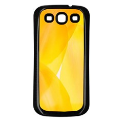 Yellow Pattern Painting Samsung Galaxy S3 Back Case (black)
