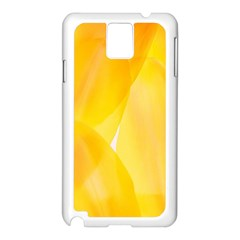 Yellow Pattern Painting Samsung Galaxy Note 3 N9005 Case (white)