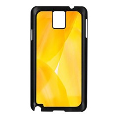 Yellow Pattern Painting Samsung Galaxy Note 3 N9005 Case (black)
