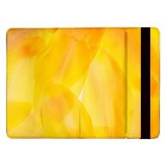 Yellow Pattern Painting Samsung Galaxy Tab Pro 12 2  Flip Case